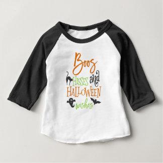 Camiseta Para Bebê Silvos das vaias e desejos do Dia das Bruxas