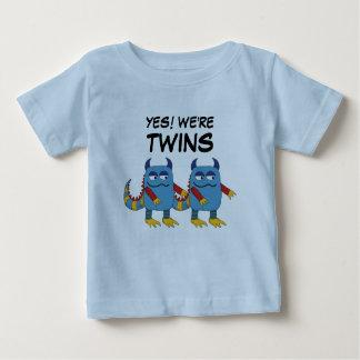 Camiseta Para Bebê Sim! Nós somos gêmeos