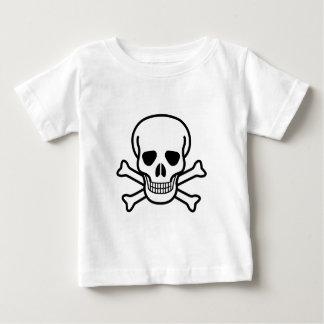 Camiseta Para Bebê Símbolo da morte do crânio e dos Crossbones