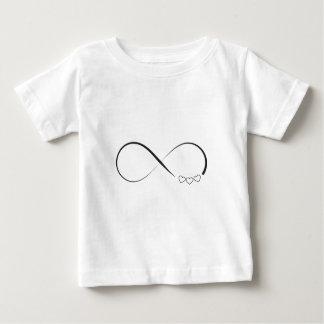 Camiseta Para Bebê Símbolo dos corações da infinidade