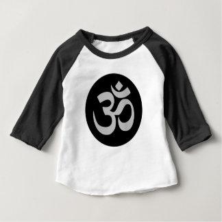 Camiseta Para Bebê Símbolo, prata e preto de Aum