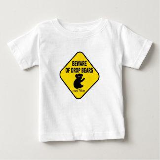 Camiseta Para Bebê Sinal australiano engraçado. Beware dos ursos da