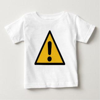 Camiseta Para Bebê Sinal de aviso