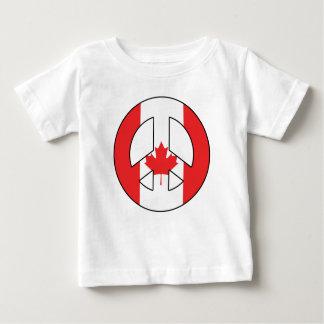 Camiseta Para Bebê Sinal de paz canadense