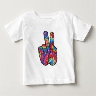 Camiseta Para Bebê Sinal de paz da tintura do laço