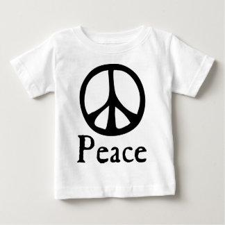 Camiseta Para Bebê Sinal de paz de fluxo