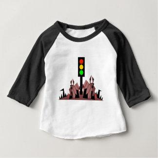 Camiseta Para Bebê Sinal de trânsito com coelhos