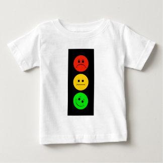 Camiseta Para Bebê Sinal de trânsito temperamental verde inclinado