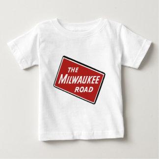 Camiseta Para Bebê Sinal Railway 2 da estrada de Milwaukee