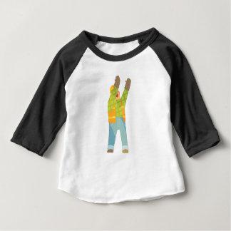 Camiseta Para Bebê Sinalização do construtor no canteiro de obras
