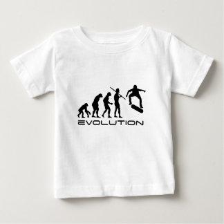 Camiseta Para Bebê Skate da evolução