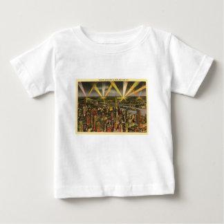 Camiseta Para Bebê Skyline da Nova Iorque do vintage
