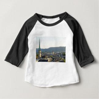 Camiseta Para Bebê Skyline da suiça de Zurique