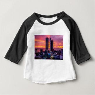 Camiseta Para Bebê Skyline de Manila Filipinas