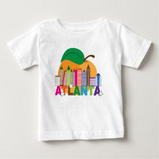 Camiseta Para Bebê Skyline do pêssego de Atlanta, Geórgia |