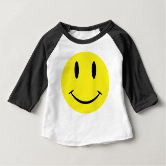 Camiseta Para Bebê SmileyWithBG