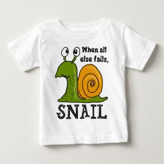 Camiseta Para Bebê Snailing… quando falhar toda mais