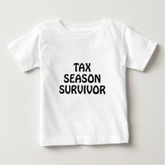 Camiseta Para Bebê Sobrevivente da estação do imposto