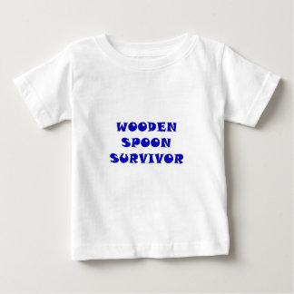 Camiseta Para Bebê Sobrevivente de madeira da colher