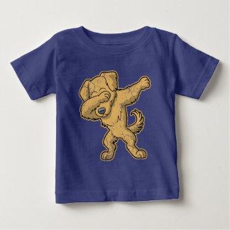 Camiseta Para Bebê Solha de toque ligeiro do cão do golden retriever