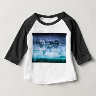 Camiseta Para Bebê Soluções globais da tecnologia