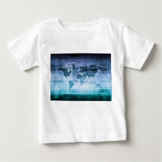 Camiseta Para Bebê Soluções globais da tecnologia no Internet