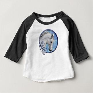 Camiseta Para Bebê Sonho cinzento