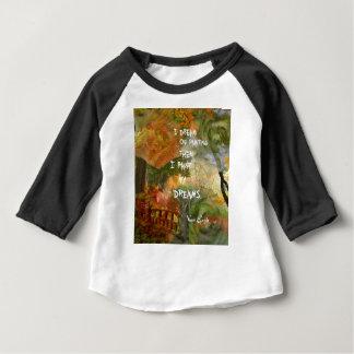 Camiseta Para Bebê Sonho de rosas cinzentos e alaranjados