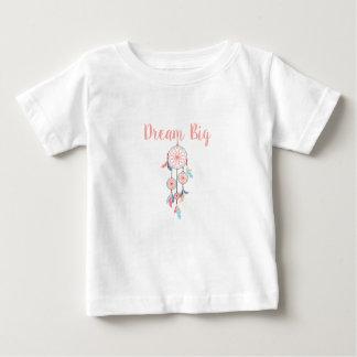 Camiseta Para Bebê Sonho-Grande-Dreamcatcher-pêssego