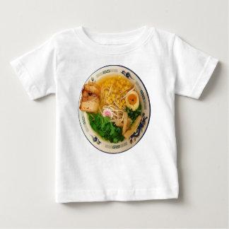 Camiseta Para Bebê Sopa de macarronete dos Ramen da carne de porco