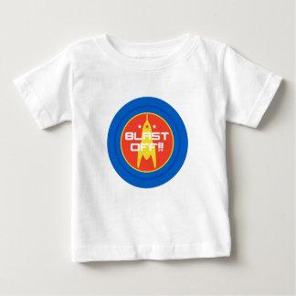 Camiseta Para Bebê Sopre fora!! Espaço retro Rocket da ficção