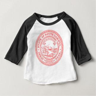 Camiseta Para Bebê South Dakota vermelho desvanecido