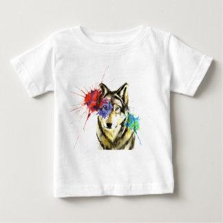 Camiseta Para Bebê Splatter do lobo