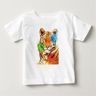 Camiseta Para Bebê Splatter do tigre