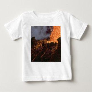Camiseta Para Bebê Splatter e fluxo da lava
