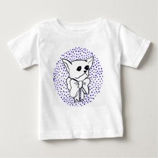 Camiseta Para Bebê Sr. PiddlePoo a chihuahua, bolinhas roxas