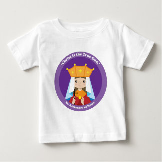 Camiseta Para Bebê St. Alexandra de Roma