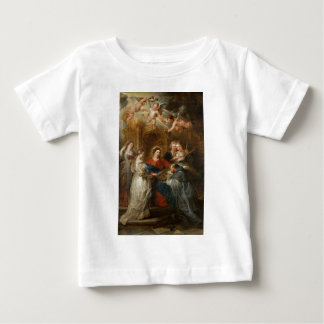 Camiseta Para Bebê St. Idelfonso - Peter Paul Rubens do Triptych