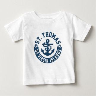 Camiseta Para Bebê St Thomas E.U. Virgin Islands