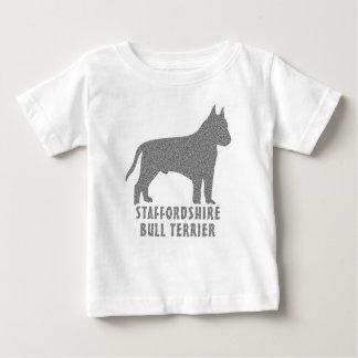 Camiseta Para Bebê Staffordshire bull terrier