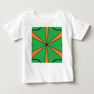 Camiseta Para Bebê starbursts alaranjados