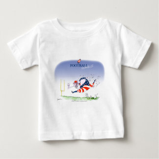 Camiseta Para Bebê Steamroller do futebol, fernandes tony