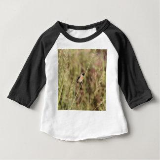 Camiseta Para Bebê Stonechat comum (torquatus do Saxicola)