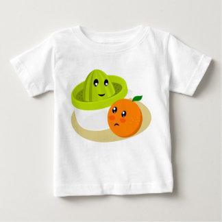 Camiseta Para Bebê Sumo de laranja (laranja e Squeezer)