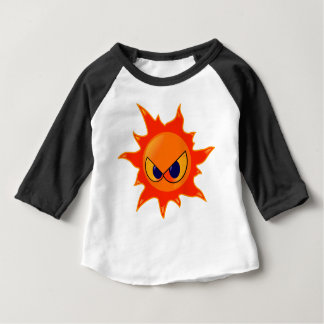 Camiseta Para Bebê Sun irritado