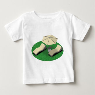Camiseta Para Bebê Sunbathing