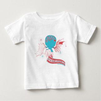 Camiseta Para Bebê Super-herói Grande-Cerebrado da Vinci que voa o
