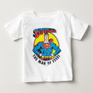 Camiseta Para Bebê Superman o homem do aço