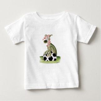 Camiseta Para Bebê suporte feliz do cão do futebol dos vermelhos