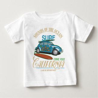 Camiseta Para Bebê Surf de Califórnia